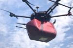 Il drone protagonista del primo test per il trasporto di sangue (fonte: ABzero)
