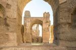 Curran accende le Terme di Caracalla