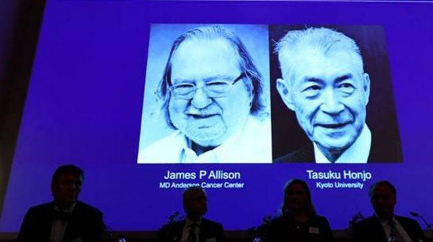 premio nobel medicina, James P. Allison, Tasuku Honjo, Sicilia, Mondo