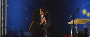Il vice premier e leader del M5s Luigi Di Maio sul palco di Italia 5 Stelle al Circo Massimo, Roma