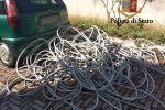 Rubano 325 metri di cavi di rame in via La Malfa, due arresti a Palermo
