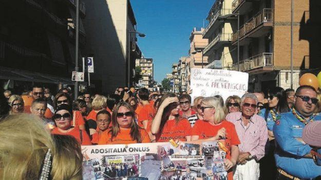donne gelesi in marcia, senologia gela, Agrigento, Società