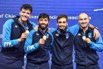 La squadra di fioretto maschile campione del mondo 2018 con i siciliani Daniele Garozzo e Giorgio Avola