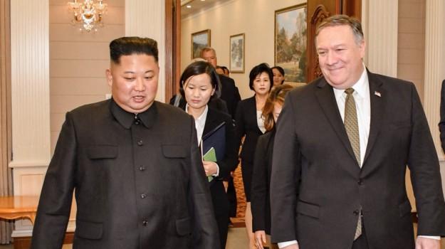corea del nord - usa, Kim Jong-un, Mike Pompeo, Sicilia, Mondo