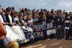 La marcia in ricordo delle vittime del naufragio del 3 ottobre 2013, che provocò la morte di 368 migranti, Lampedusa (Agrigento), 3 ottobre 2018. ANSA/ ELIO DESIDERIO