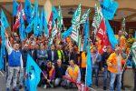 Sit-in operai Sis passante ferroviario Palermo