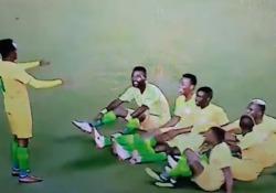 Durante la partita contro la Repubblica democratica del Congo, la squadra ha inscenato un'esultanza molto particolare