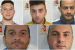 Furti di auto e negozi, le foto degli arrestati a Vittoria