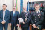 Da sinistra: il vicesindaco Giuseppe Cruciata, il sindaco Nicola Rizzo, il colonnello Gianluca Vitagliano e il capitano Giulio Pisani