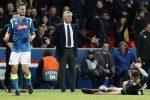 """Champions, il Napoli sfiora l'impresa col Psg, Ancelotti: """"Nulla da rimproverare"""""""