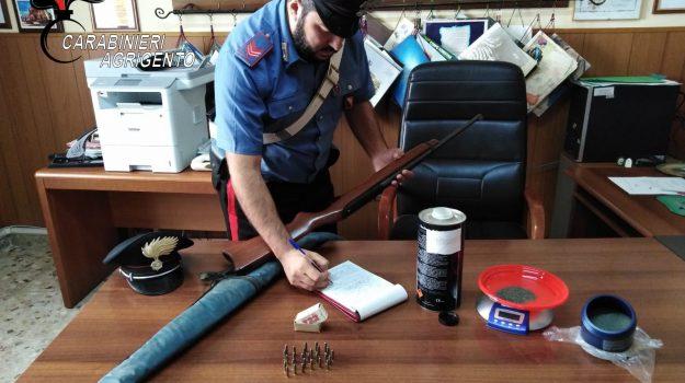 nasconde fucile a Calamonaci, Agrigento, Cronaca