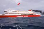 La nave Palermo-Livorno della Grimaldi a bordo della quale è scoppiato l'incendio