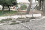 Partanna, vandali al parco giochi di piazza Galilei: distrutte pure le telecamere