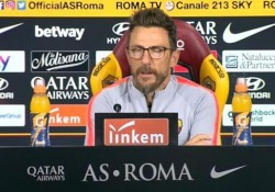 Il tecnico giallorosso: «Pellegrini titolare, De Rossi in dubbio, Kolarov nemmeno convocato»