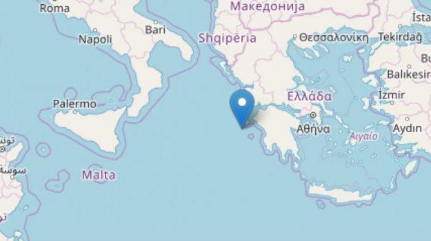 terremoto grecia, Sicilia, Cronaca