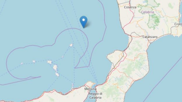 terremoto mar tirreno, Messina, Cronaca