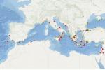 La prima mappa di pericolosità degli tsunami generati da terremoti nell'area del Mediterraneo (fonte: INGV)