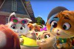 """Lampo, Milady, Pilou e Polpetta: arriva in tv la serie animata """"44 Gatti"""""""