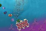 Rappresentazione grafica della doppia azione del materiale che pulisce l'acqua e la scinde nei suoi componenti, producendo idrogeno (fonte: Alina-Stavroula Kampouri/EPFL)