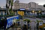 Una veduta esterna dell'ospedale 'San Giovanni Bosco' di Napoli
