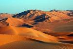 il deserto Rub' al-Khali in Oman, immenso, disabitato e in g