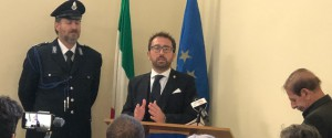 Il ministro della Giustizia Alfonso Bonafede a Palermo