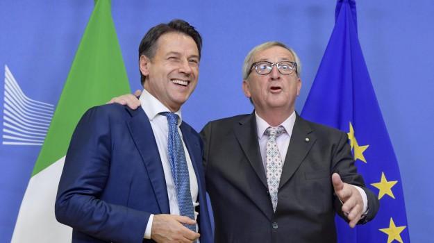 italia Ue, manovra, Giuseppe Conte, Jean Claude Juncker, Sicilia, Politica