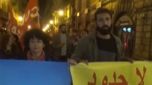 Corteo a Palermo contro il vertice sulla Libia