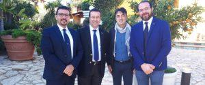 Da sinistra Igor Gelarda, Stefano Candiani, Giuseppe Romanotto e Giuseppe La Corte
