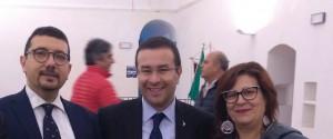 Da sinistra Igor Gelarda, Stefano Candiani e Teresa Marchese