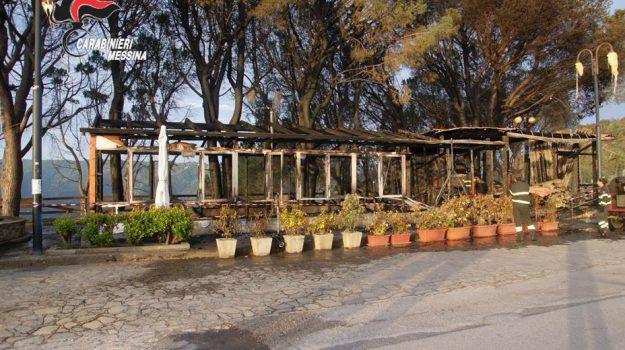 incendio ristorante piraino, ristorante la pineta, Messina, Cronaca