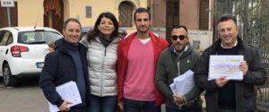 I comunicatori della Srr Palermo Area Metropolitana con il Presidente Moncada in piazza Molara