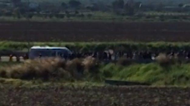 Migranti, nuova protesta al Cara di Mineo: bloccata la statale Catania-Gela