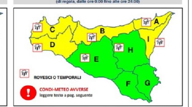 allerta gialla, maltempo sicilia, Sicilia, Cronaca