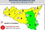Torna il maltempo a Palermo, allerta gialla nella Sicilia centro-occidentale