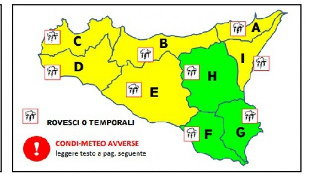 allerta gialla, meteo, Palermo, protezione civile, Palermo, Cronaca