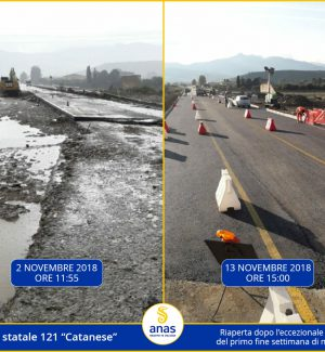 Maltempo in Sicilia, riaperta la strada statale 121 tra Manganaro e Campofelice di Fitalia