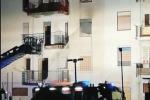 A fuoco gli alloggi popolari, serata di paura a Ribera