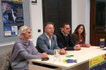 Da sinistra Elvira Piacenti, il regista Eugenio Patanè, il presidente della Compagnia teatrale Jonica Giambattista Galeano, Marika Mannino