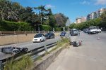Incidente a Palermo, scontro tra due scooter in viale Regione Siciliana: due feriti