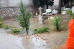Allagamenti al cimitero dei Rotoli