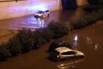 Viale Regione Siciliana allagata e auto bloccate, Palermo