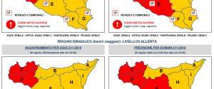 Maltempo in Sicilia, sale il livello di allarme: allerta rossa a Palermo, Agrigento e Trapani