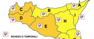 Torna il maltempo in Sicilia: allerta arancione, previsti forti venti e temporali