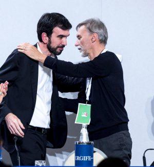 L'ex segretario del Partito Democratico Maurizio Martina e Graziano Delrio