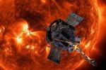 Rappresentazione artistica della sonda Parker della Nasa vicino al Sole (fonte: NASA/Johns Hopkins APL/Steve Gribben)