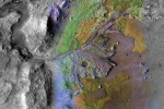 Il cratere Jezero ripreso dal Mars Reconnaissance Orbiter della Nasa (fonte: NASA/JPL/JHUAPL/MSSS/Brown University)