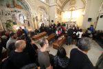 Le salme delle nove vittime della tragedia del maltempo a Casteldaccia nella parrocchia Madonna di Lourdes a Palermo