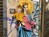 """""""Santa Chiara con Acqua Benedetta"""", a Milano il murales ironico dedicato alla Ferragni"""