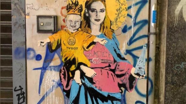 chiara ferragni murales, Chiara Ferragni, Tvboy, Sicilia, Società
